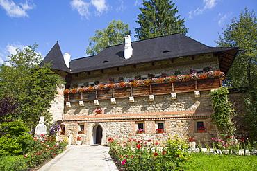 Museum, Moldovita Monastery, 1532, UNESCO World Heritage Site, Vatra Moldovitei, Suceava County, Romania, Europe
