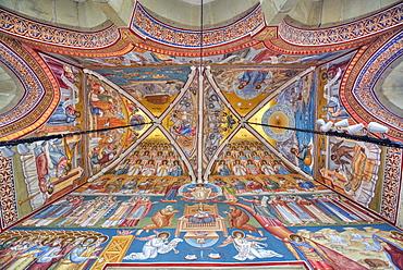Interior Frescoes, Putna Monastery, 1466, Putna, Suceava County, Romania, Europe