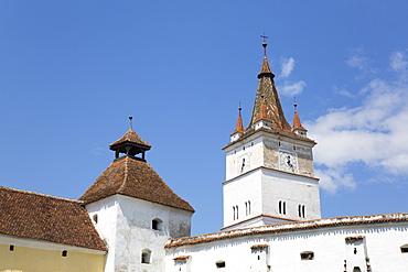 Clock Tower, Harman Fortified Church, 13th century, Harman, Brasov County, Romania, Europe