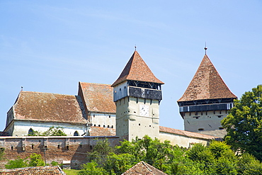 Alma Vii Fortified Church, 14th century, Alma Vii, Sibiu County, Romania, Europe