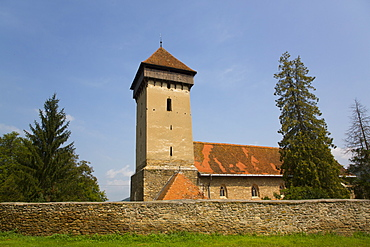 Malancrav Fortified Church, 14th century, Malancrav, Sibiu County, Romania, Europe