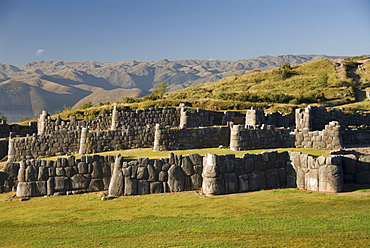 The zig-zag fortress of Sacsayhuaman, near Cuzco, Peru, South America