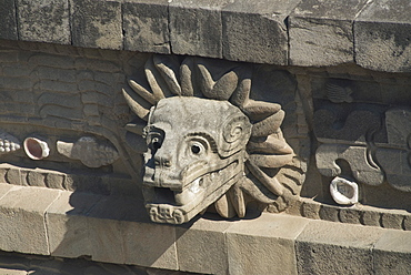 Temple of Quetzalcoatl, Archaeological Zone of Teotihuacan, UNESCO World Heritage Site, Mexico, North America