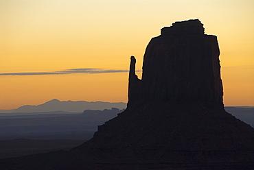 Monument Valley Navajo Tribal Park, West Mitten (sunrise), Utah, United States of America, North America