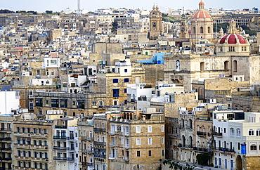 The rooftops of Valletta, Malta, Europe