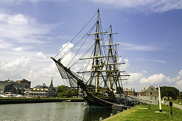 The Friendship of Salem ship docked at the Salem Maritime National Historic Site at Salem, Massachusetts, New England, United States of America, North America