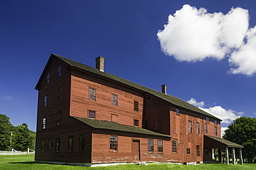 The laundry machine building at the Hancock Shaker Village, Hancock, Massachusetts, New England, United States of America, North America