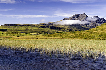 Loch Cill Chriosd near Broadford looking to Blaven and Red Cuillin on the Isle of Skye, Inner Hebrides, Scotland, United Kingdom, Europe