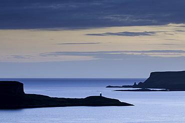 Looking west from Struan over Loch Harport and Loch Bracadale on the Isle of Skye, Inner Hebrides, Scotland, United Kingdom, Europe