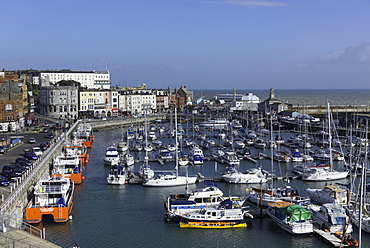 View of the Royal Harbour and Marina at Ramsgate, Kent, England, United Kingdom, Europe