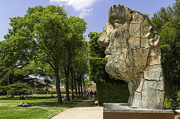 The Monumental Head by Igor Mitora in the Boboli Gardens, Florence, Tuscany, Italy, Europe