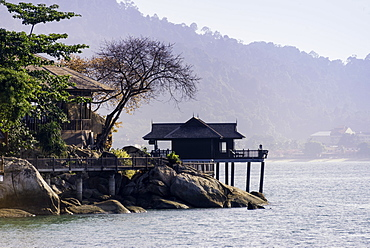 A villa at the luxury resort and spa of Pangkor Laut, Malaysia, Southeast Asia, Asia