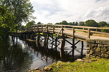 Old North Bridge, Minute Man National Historic Park, Concord, Massachusetts, United States of America, North America