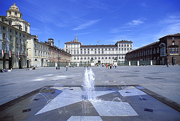 Piazza Castello, Turin, Piedmont, Italy, Europe