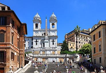 Trinita dei Monti church, Rome, Lazio, Italy, Europe