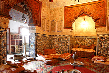 Moulay Ismail Mausoleum, Meknes, Morocco, North Africa, Africa