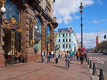 Nevsky Prospekt, St. Petersburg, Russia, Europe