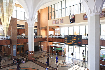Train station, Marrakech, Morocco, North Africa, Africa
