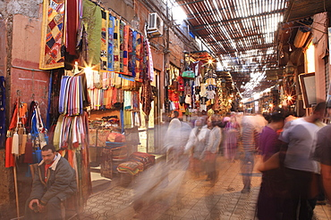 Shops in The Medina, Marrakech, Morocco, North Africa, Africa
