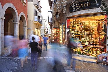 Tourists, Taormina, Sicily, Italy, Europe