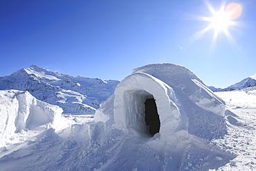 Igloo, Alps, Italy, Europe