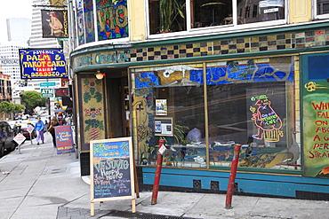 Vesuvio, Bar, Beat generation hang out, North Beach, San Francisco, California, United States of America, North America