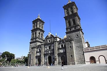 Cathedral, Puebla, Historic Center, UNESCO World Heritage Site, Puebla State, Mexico, North America