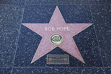 Bob Hope, Star, Hollywood Walk of Fame, Hollywood Boulevard, Hollywood, Los Angeles, California, United States of America, North America