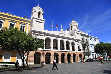 Plaza de Armas, Alcaldia, City Hall, Old San Juan, San Juan, Puerto Rico, West Indies, Caribbean, United States of America, Central America