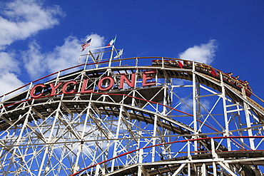 Cyclone roller coaster, Coney Island, Brooklyn, New York City, United States of America, North America