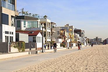 Santa Monica, Beach Houses, Promenade, Los Angeles, California, United States of America, North America