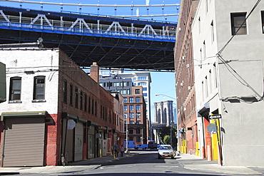 Manhattan and Brooklyn Bridges, DUMBO, Brooklyn, New York City, United States of America, North America