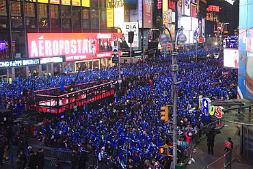 Revelers, Crowds, New Years Eve, Times Square, Manhattan, New York City, United States of America, North America