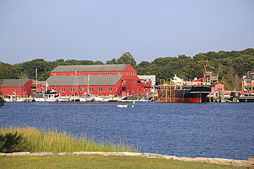 Mystic Seaport, The Museum of America and the Sea, Mystic River, Connecticut, New England, United States of America, North America