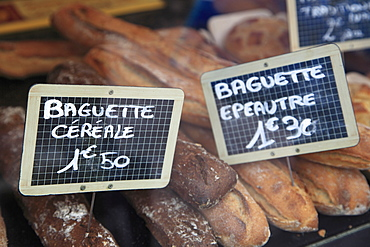 Baguettes, Market, Cours Saleya, Old Town, Nice, Provence, Cote d Azur, French Riviera, France, Europe