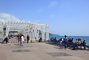Promenade des Anglais, Nice, Cote d'Azur, Alpes Maritimes, Provence, French Riviera, France, Mediterranean, Europe