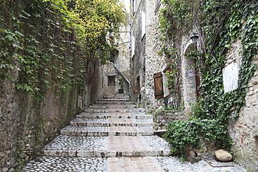 Haut de Cagnes, Medieval Village, Cagnes sur Mer, Alpes Maritimes, Cote d'Azur, Provence, France, Europe