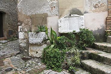 Roman antiquities, Haut de Cagnes, Medieval Village, Cagnes sur Mer, Alpes Maritimes, Cote d'Azur, Provence, France, Europe