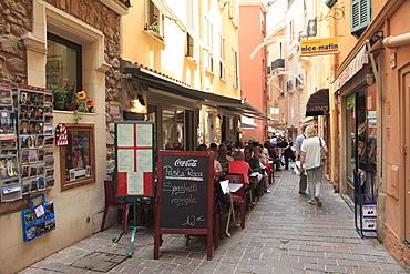 Monaco-Ville, Old Town, Le Rocher (The Rock), Monaco, Cote d'Azur, Mediterranean, Europe