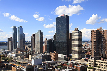 Midtown skyline, West Side, Manhattan, New York City, United States of America, North America
