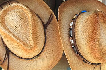 Cowboy hats for sale, Historic District, Taos, New Mexico, United States of America, North America