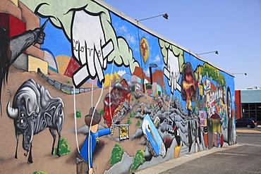 Mural, Nob Hill, Central Avenue, Route 66, Albuquerque, New Mexico, United States of America, North America
