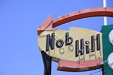 Retro Sign, Nob Hill, Central Avenue, Route 66, Albuquerque, New Mexico, United States of America, North America