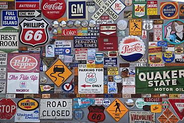 Retro Road Signs, Americana, Route 66, Central Avenue, Albuquerque, New Mexico, United States of America, North America