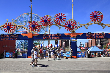Luna Park, Boardwalk, Coney Island, Brooklyn, New York City, United States of America, North America