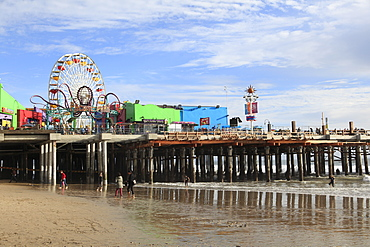 Santa Monica Pier, Pacific Park, Santa Monica, Los Angeles, California, United States of America, North America