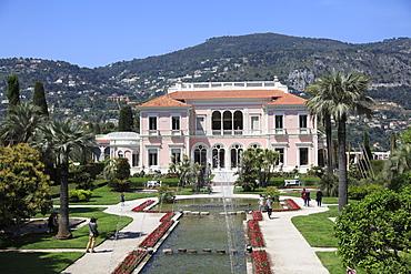 Ephrussi de Rothschild Villa, Saint Jean Cap Ferrat, Alpes Maritimes,Cote d'Azur, French Riviera, Provence, France, Europe