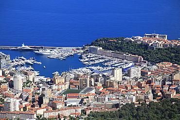 Le Rocher (The Rock), Port Hercules, La Condamine, Monaco, Cote d'Azur, Mediterranean, Europe