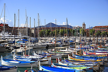 Port Lympia, Harbor, Nice, Alpes Maritimes, Cote d'Azur, Provence, French Riviera, France, Europe