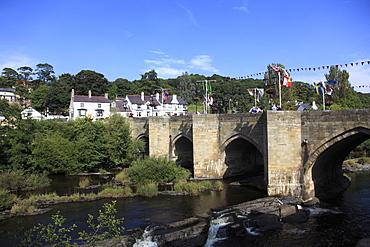 Llangollen, Dee Bridge, one of the Seven Wonders of Wales, Dee River, Dee Valley, Denbighshire, North Wales, United Kingdom, Europe